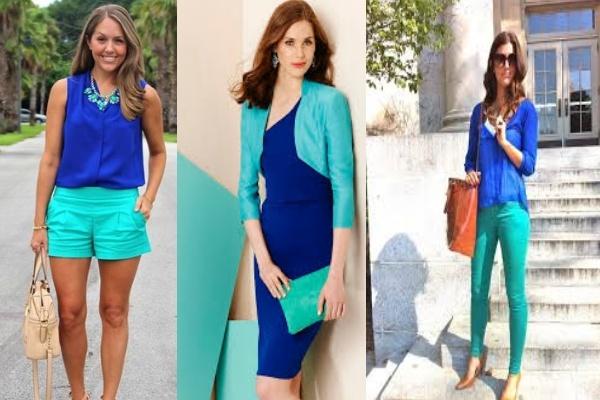 бирюзовый и синй в одежне бьютисовет