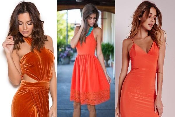 оранжево красный в одежде брюнетки бьютисовет